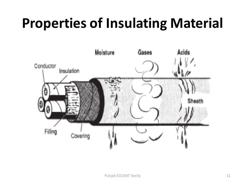 Properties of Insulating Material 11Punjab EDUSAT Socity