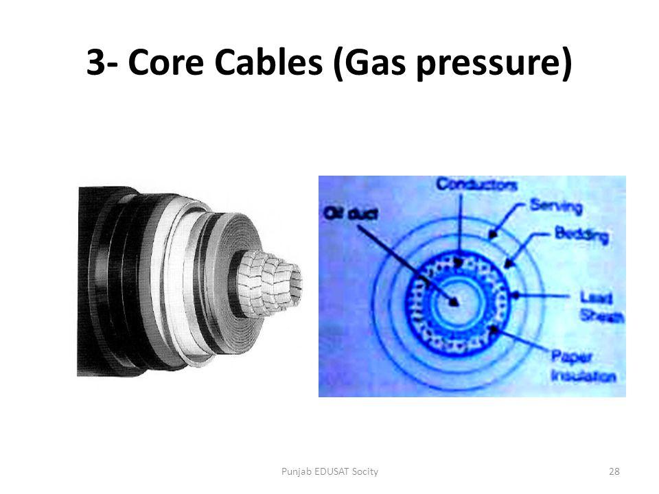 3- Core Cables (Gas pressure) 28Punjab EDUSAT Socity