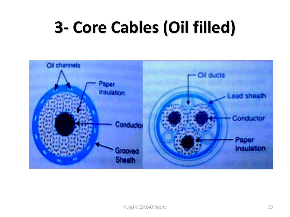 3- Core Cables (Oil filled) 30Punjab EDUSAT Socity