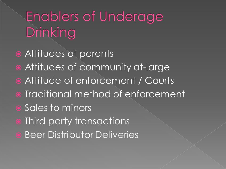  37 O.S § 241.C Unlawful for permit holder to allow persons under 21 to consume.