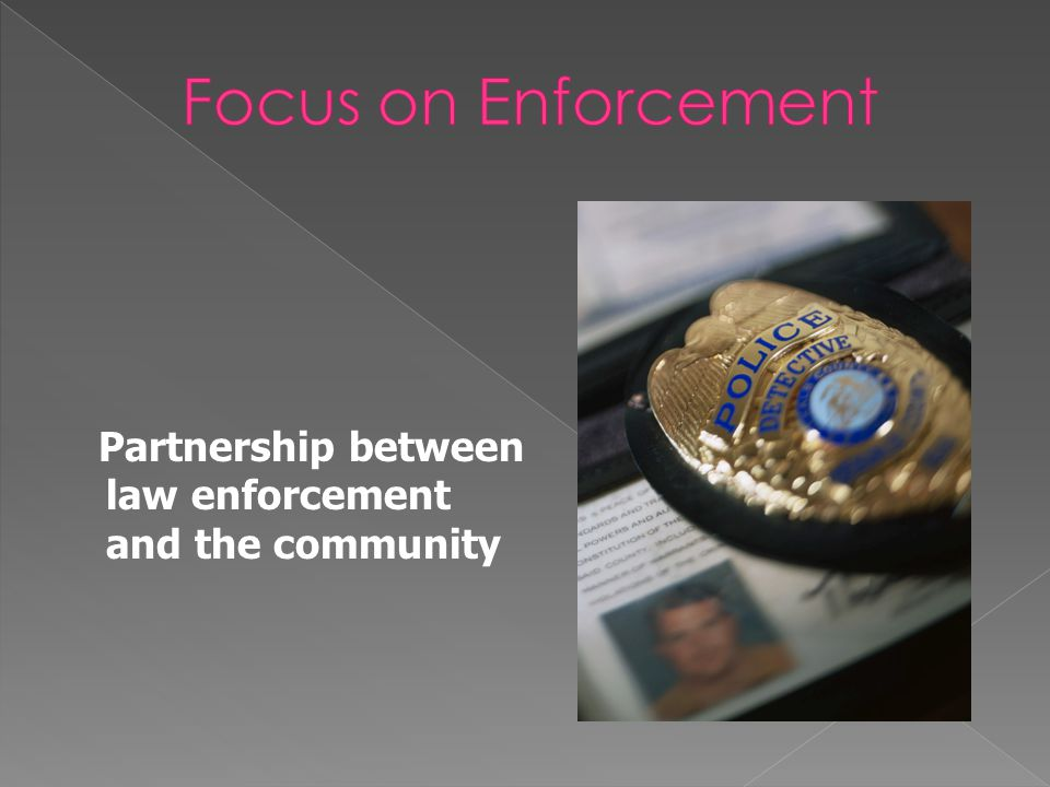 ... is a piece of a larger puzzle aimed at changing community norms, policies, and practices.