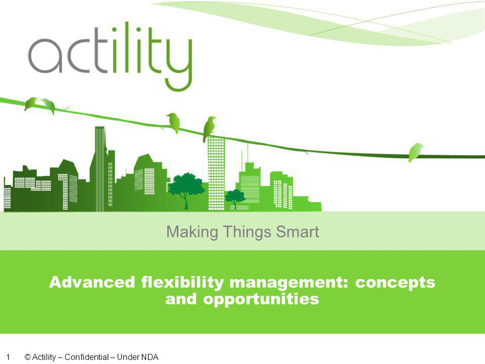 © Actility – Confidential – Under NDA 1 Advanced flexibility management: concepts and opportunities Making Things Smart