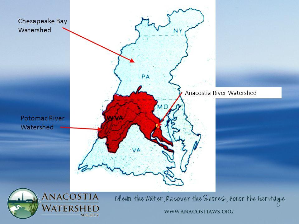 Potomac River Watershed Chesapeake Bay Watershed Anacostia River Watershed