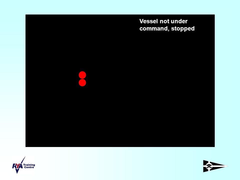 Vessel not under command, stopped