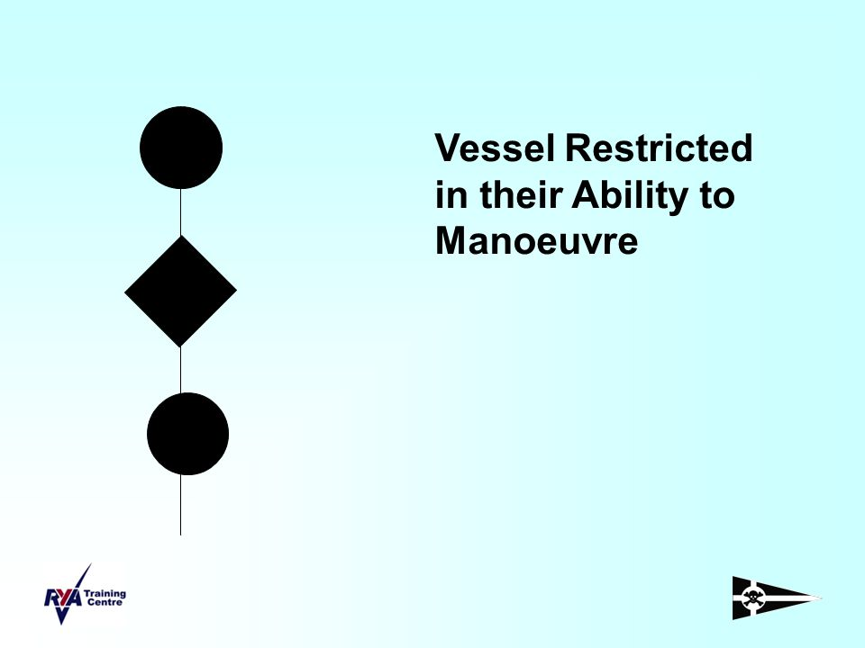 Vessel Restricted in their Ability to Manoeuvre