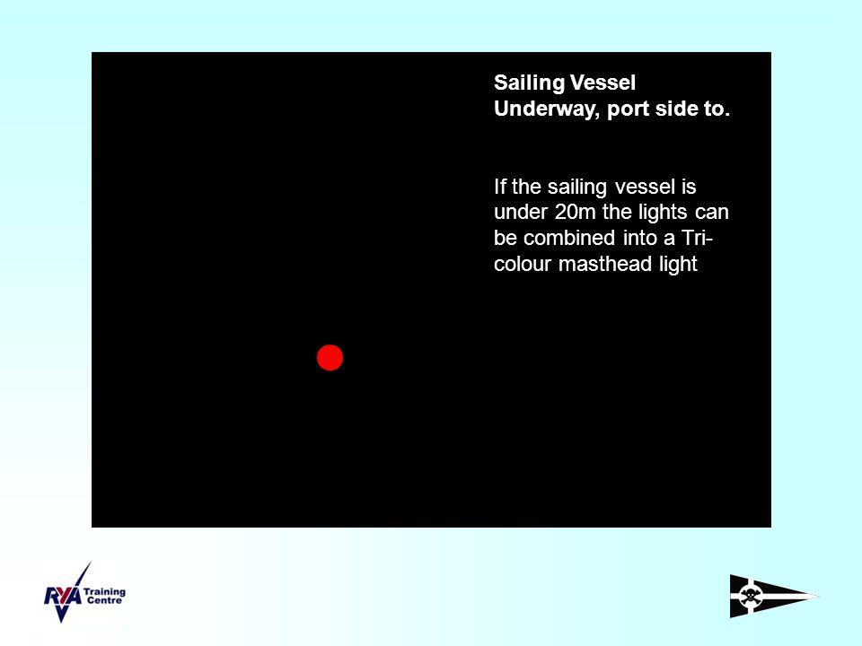 Vessel not under command, underway, under 50m