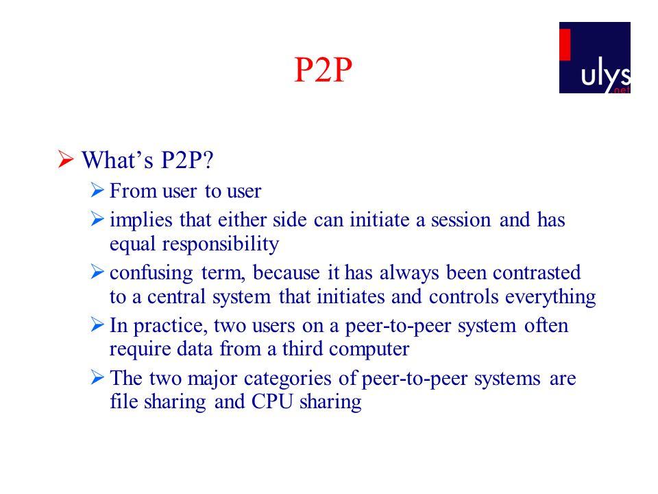 P2P  P2P success story.