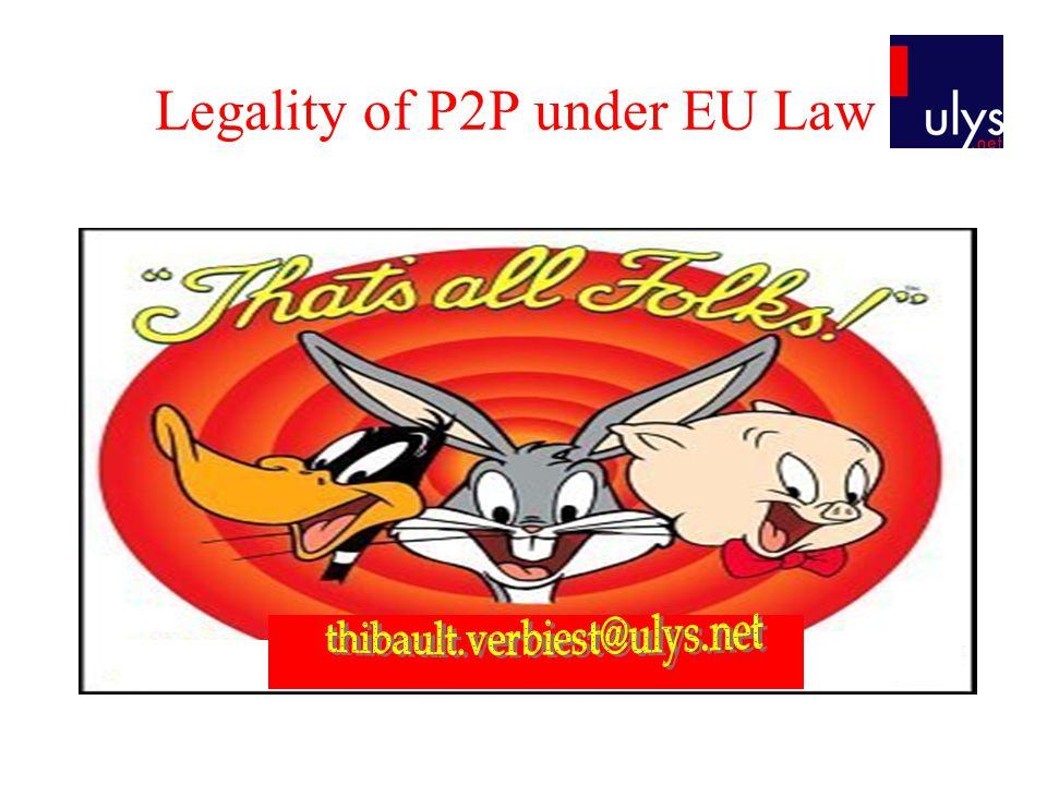Legality of P2P under EU Law