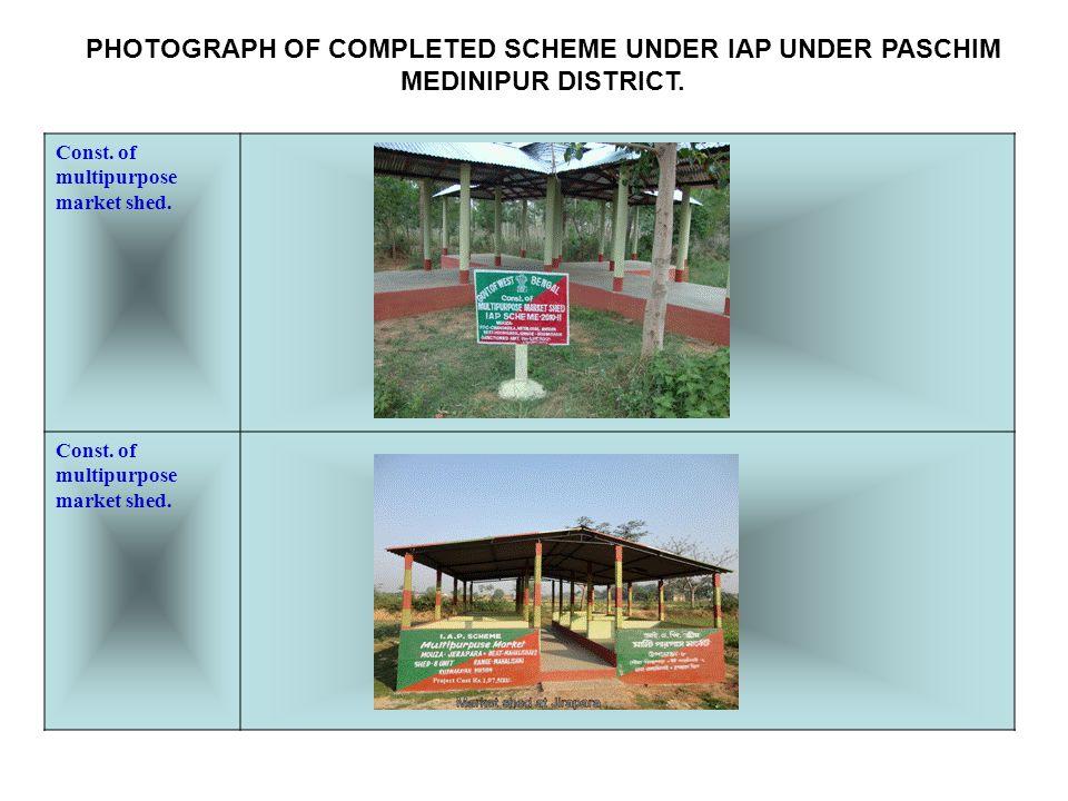 Pipe water supply scheme PHOTOGRAPH OF COMPLETED SCHEME UNDER IAP UNDER PASCHIM MEDINIPUR DISTRICT.