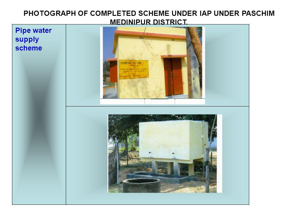 Irrigation Channel (pilot scheme) PHOTOGRAPH OF COMPLETED SCHEME UNDER IAP UNDER PASCHIM MEDINIPUR DISTRICT.