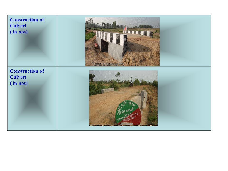 Construction of Culvert ( in nos)
