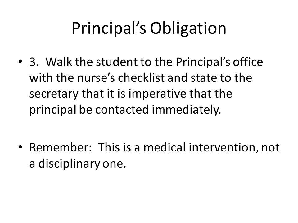 Principal's Obligation 3.