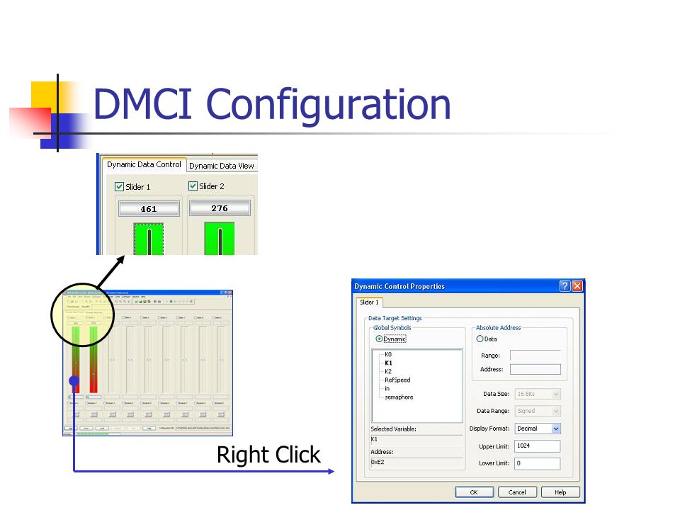 DMCI Configuration Right Click