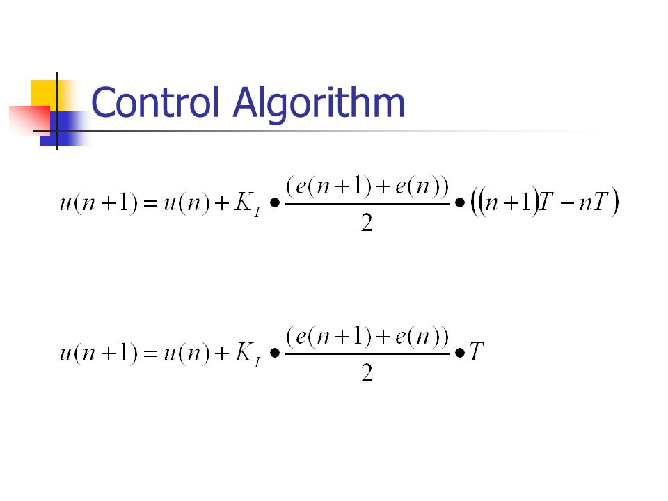 Control Algorithm