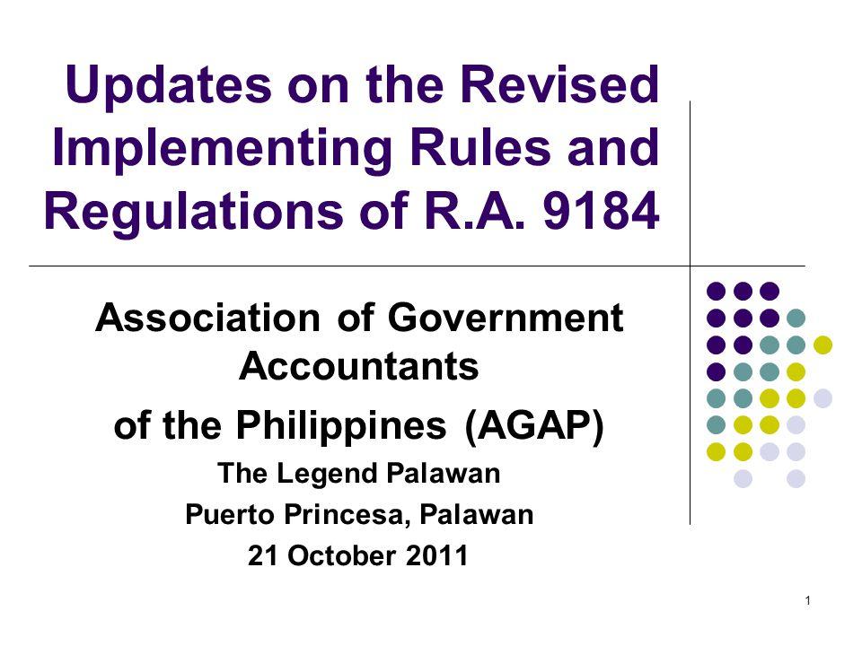 IRR Highlights Bid & Performance Securities (Secs.
