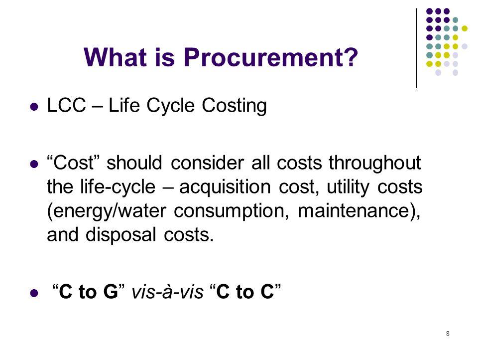 What is Procurement.