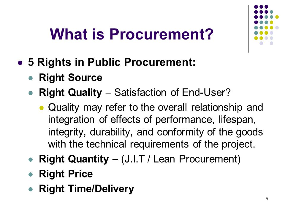 IRR Revisions Alternative Methods of Procurement (Secs.