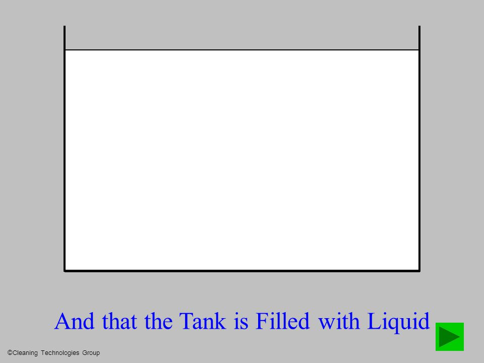 And that the Tank is Filled with Liquid ©Cleaning Technologies Group