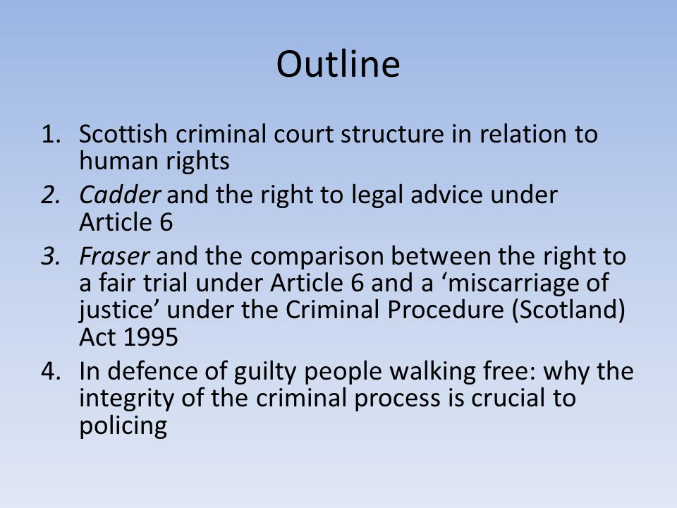 Scottish criminal court structure in relation to human rights