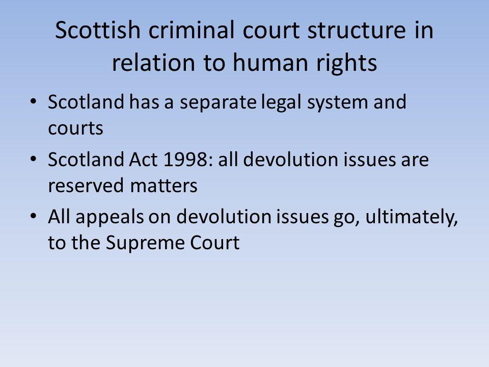 Crime Control Due Process Scotland.