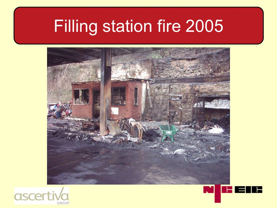 Filling station fire 2005