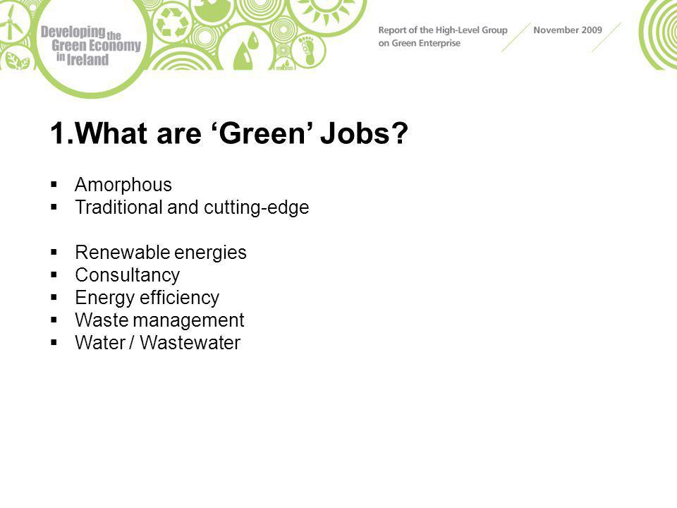 1.What are 'Green' Jobs.