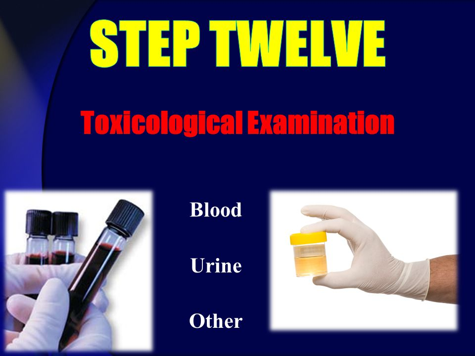 Blood Urine Other Toxicological Examination