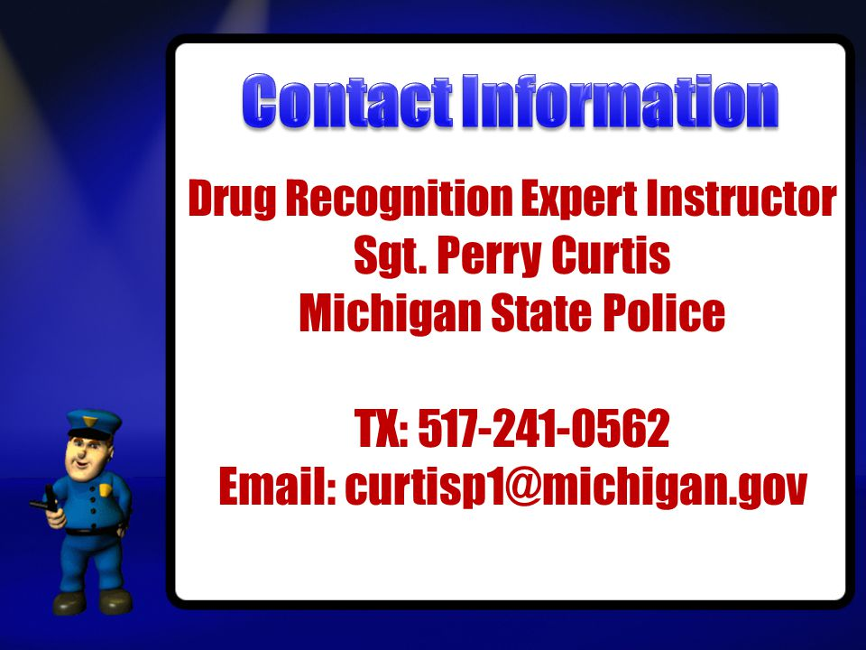 Drug Recognition Expert Instructor Sgt.
