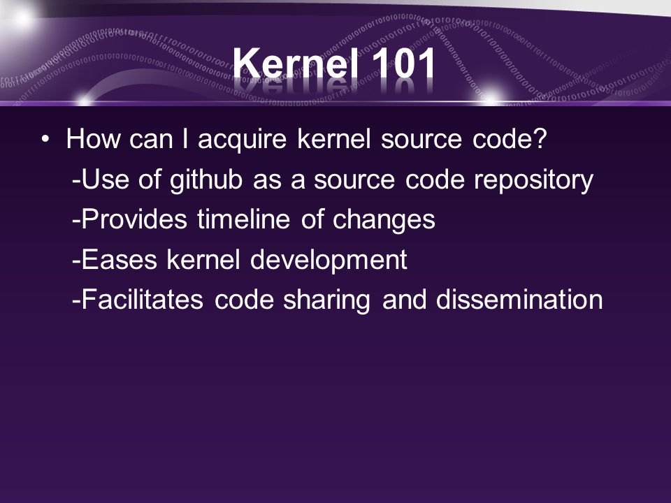How can I acquire kernel source code.