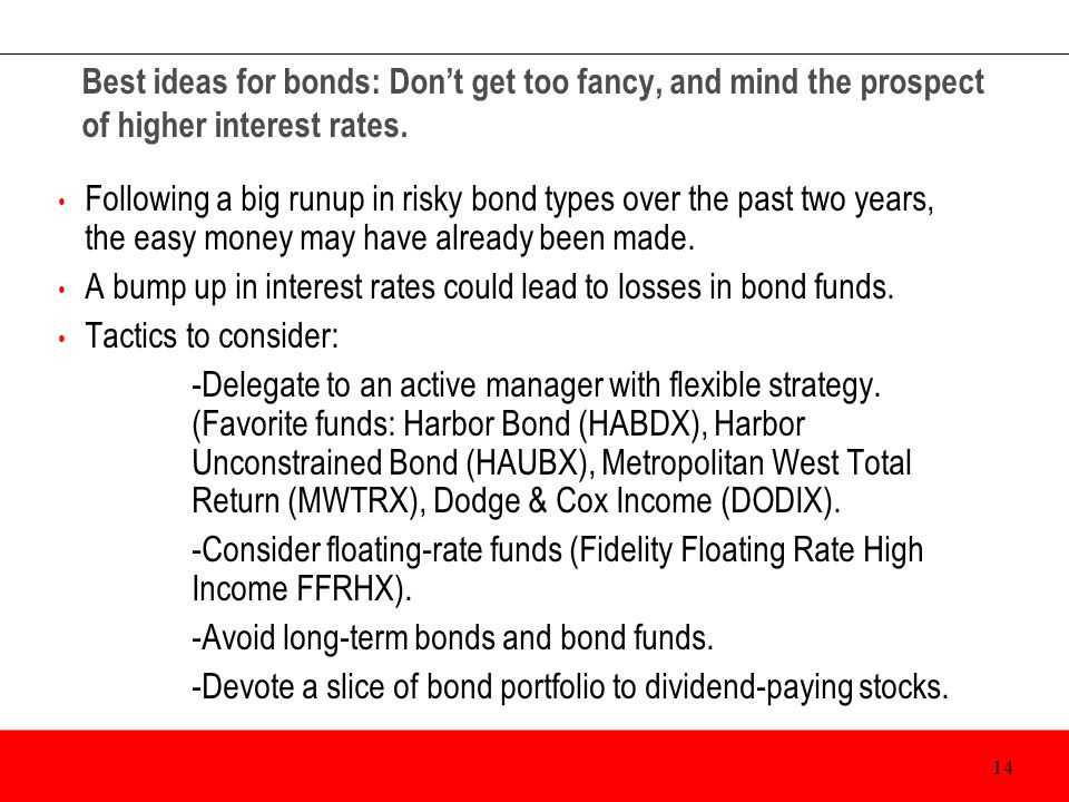 Best ideas for bonds: Don't get too fancy, and mind the prospect of higher interest rates.