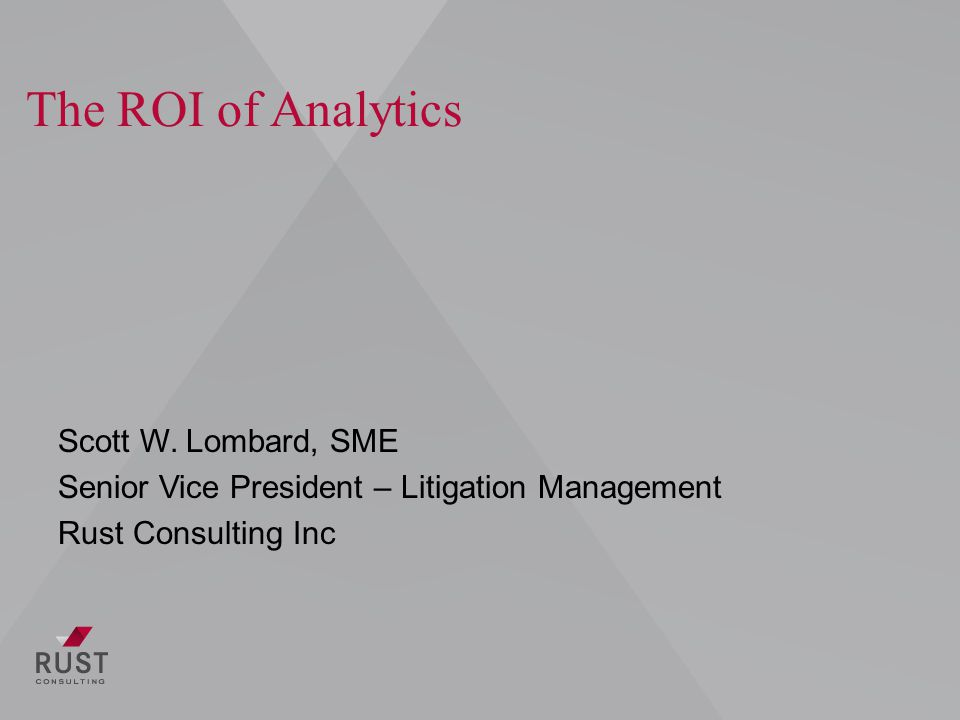 Case Study Large Anti-Trust matter Review set of 1.9 million documents Client used linear review workflow for first 14 months Estimated another 36 months to complete review Implemented analytics in relativity to accelerate the review process