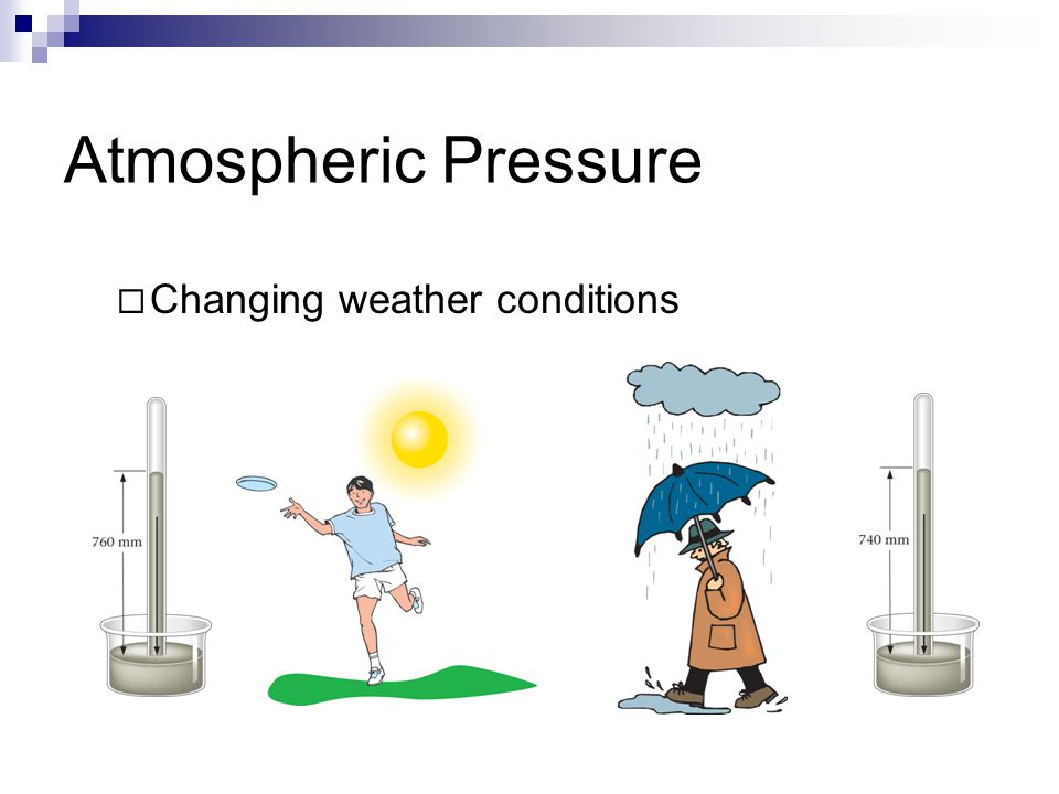 Atmospheric Pressure  Changing weather conditions