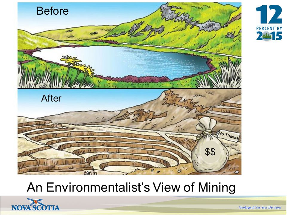 $$ No Thanks Before After An Environmentalist's View of Mining