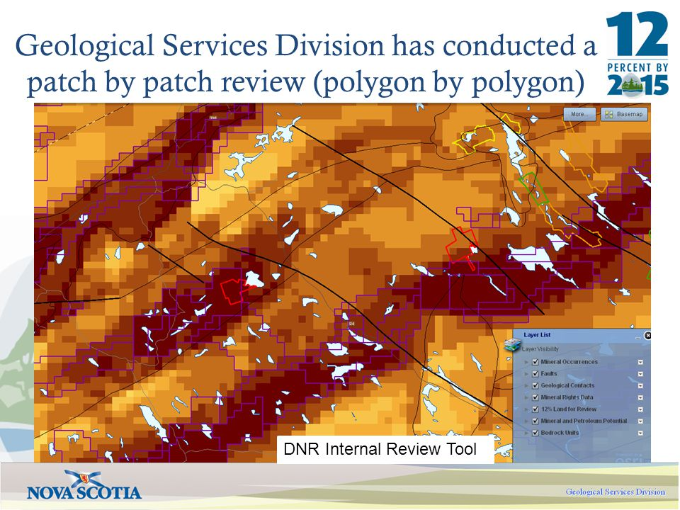 Geological Services Division has conducted a patch by patch review (polygon by polygon) DNR Internal Review Tool