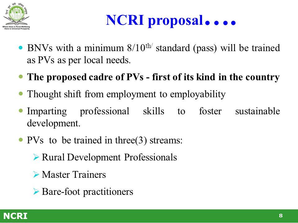 NCRI proposal ….