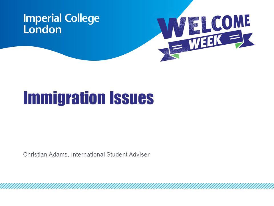 Immigration Issues Christian Adams, International Student Adviser