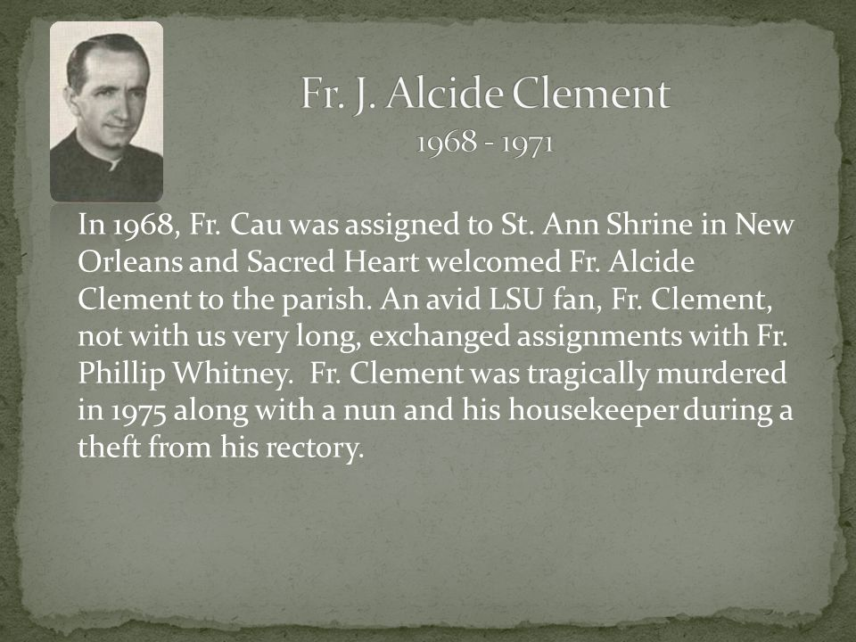 Another feat Fr. Cau took on was to re-open the school facilities at Sacred Heart.