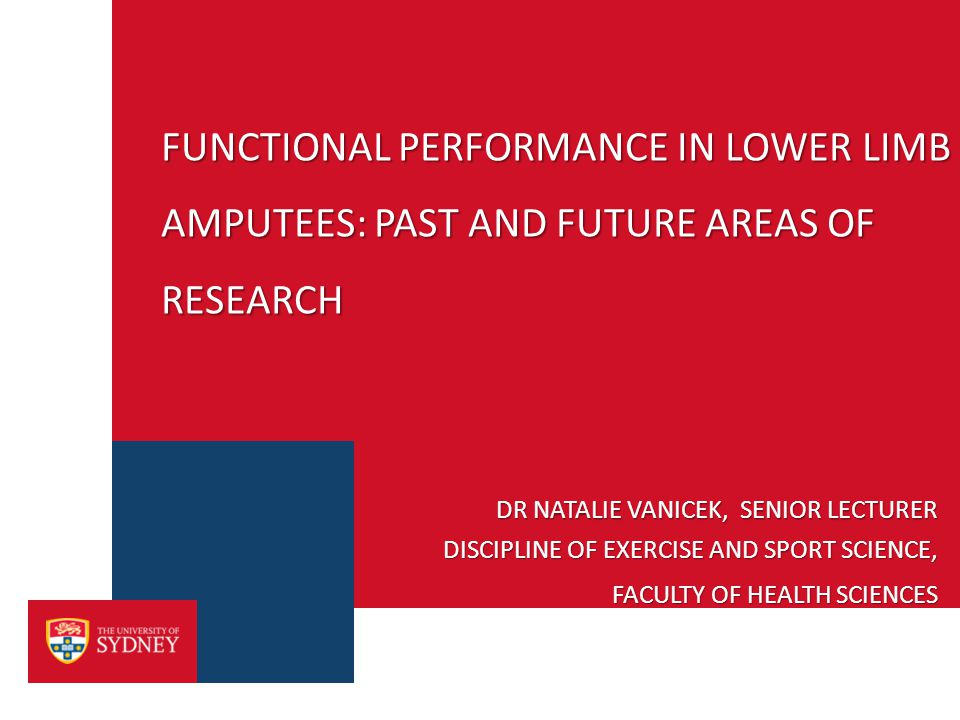 MY BACKGROUND › PhD research: Biomechanical and psychological factors that distinguish fallers from non-fallers: A comparative study of transtibial amputees and able-bodied individuals › AIM: To inform the clinical recommendations for amputee rehabilitation to reduce falls incidence and to improve falls monitoring, prevention and treatment in physiotherapy practice - A review of current amputee rehabilitation as it relates to falls monitoring and the use of outcome measures to inform amputee practice - A biomechanical comparison of level gait, stair ascent and descent and postural control - Balance confidence and quality-of-life measures in fallers and non-fallers were examined using psychological instruments and their relationship with functional measures were explored 2