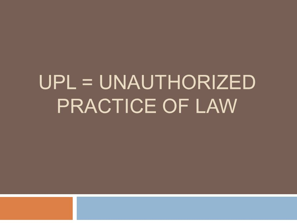 Definition of Practice of Law  The practice of law is… the doing or performing services in a court… But in a larger sense it includes legal advice and counsel, and the preparation of legal instruments and contracts by which legal rights are secured, although such matter may or may not be depending in a court. Land Title Abstract & Trust Co.