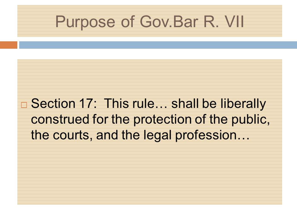 Gov.Bar R.VII UPL Regs UPL Flowchart Gov.Bar R. XII Advisory Opinions 2008-01, 02, 03 R.C.