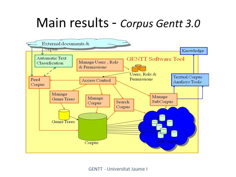Main results - Corpus Gentt 3.0 GENTT - Universitat Jaume I