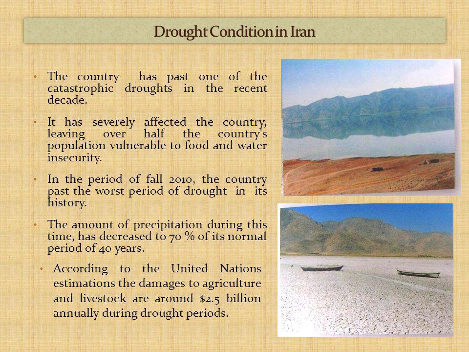 The country has past one of the catastrophic droughts in the recent decade.