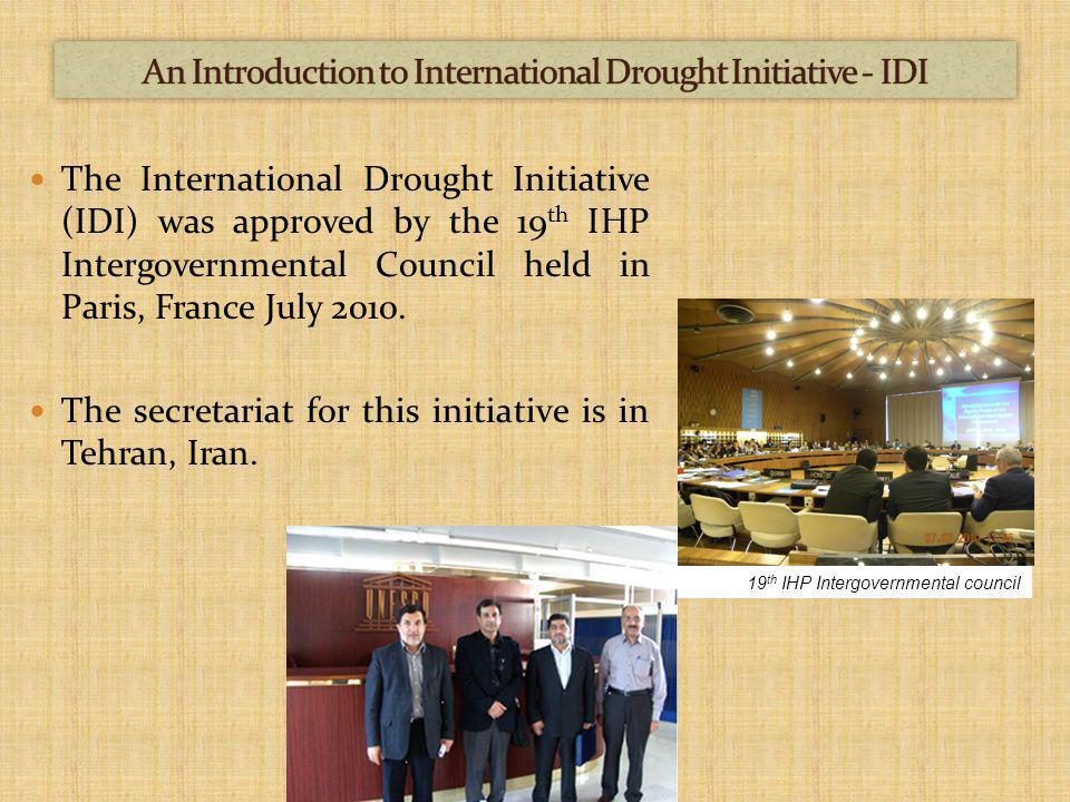 UNESCO-IHP North American Drought Monitor European Drought Centre (EDC) Drought Information Centre (OIC) Drought Coordination Centre (DCC) Drought Monitoring Centre for the Greater Horn of Africa Northeast Regional Climate Centre Drought Management Centre for Southeastern Europe Monitoring Drought Climate Prediction Centre (NOAA) New York Drought Information Drought Watch Asian Disaster Reduction Centre (ADRS) Natural Hazards Centre Drought Assistance website (Gov.