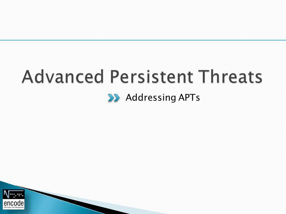 Addressing APTs