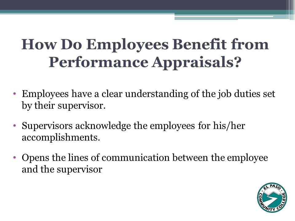 How Do Employees Benefit from Performance Appraisals.