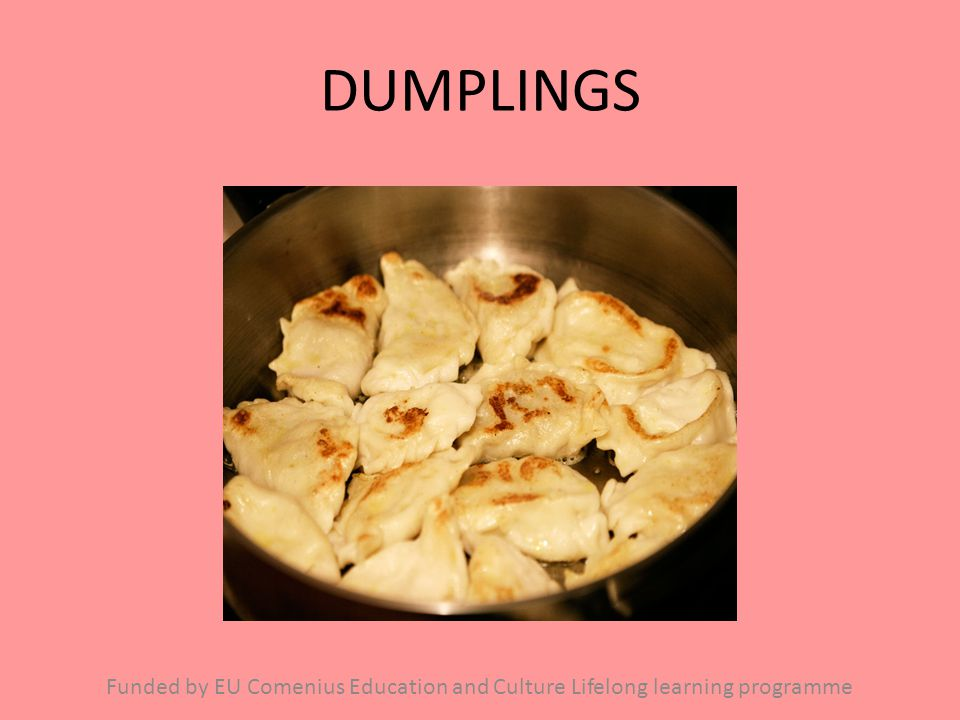 DUMPLINGS Funded by EU Comenius Education and Culture Lifelong learning programme