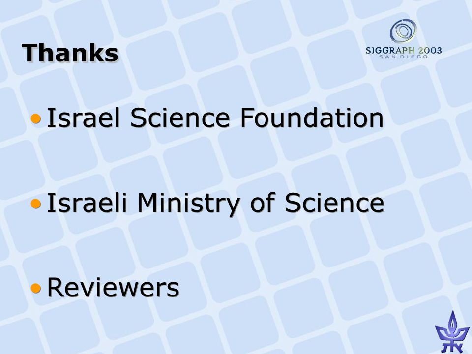 ThanksThanks Israel Science Foundation Israeli Ministry of Science Reviewers Israel Science Foundation Israeli Ministry of Science Reviewers