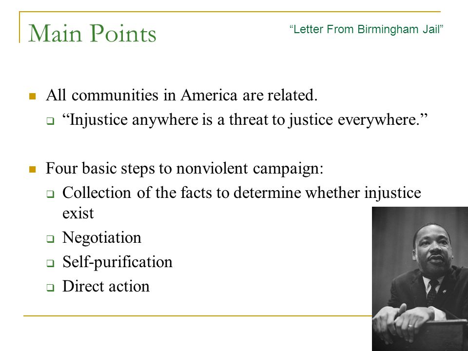 Main Points Nonviolent protests draw attention to what has previously been ignored.