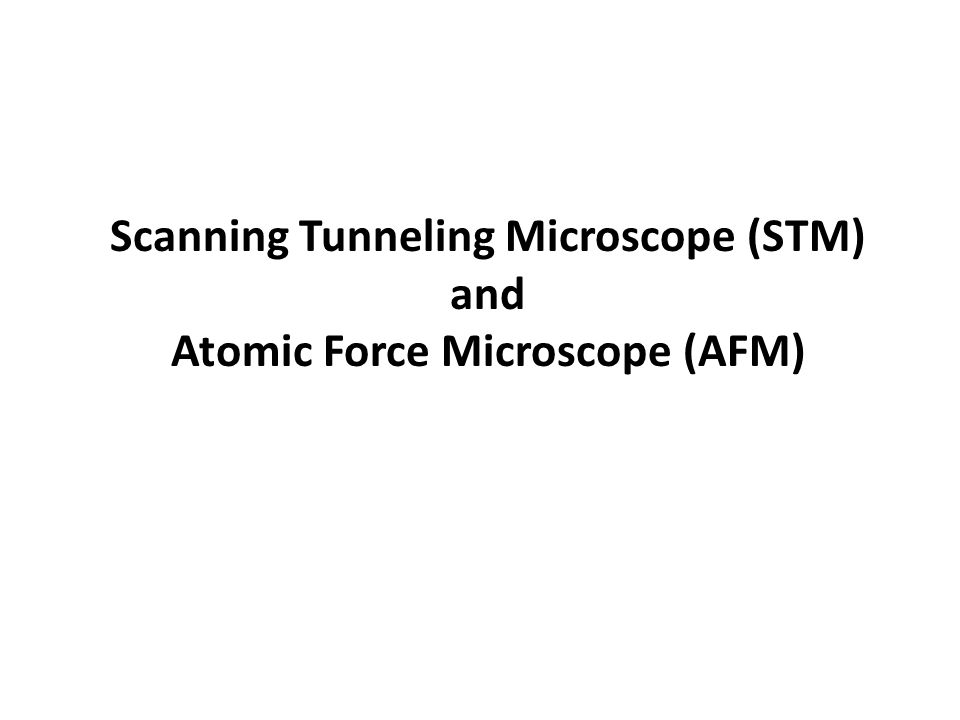 Operation of STM measure the tunneling current between a conducting tip and conducting sample when a DC bias voltage is applied.