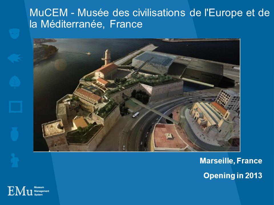 MuCEM - Musée des civilisations de l Europe et de la Méditerranée, France Marseille, France Opening in 2013